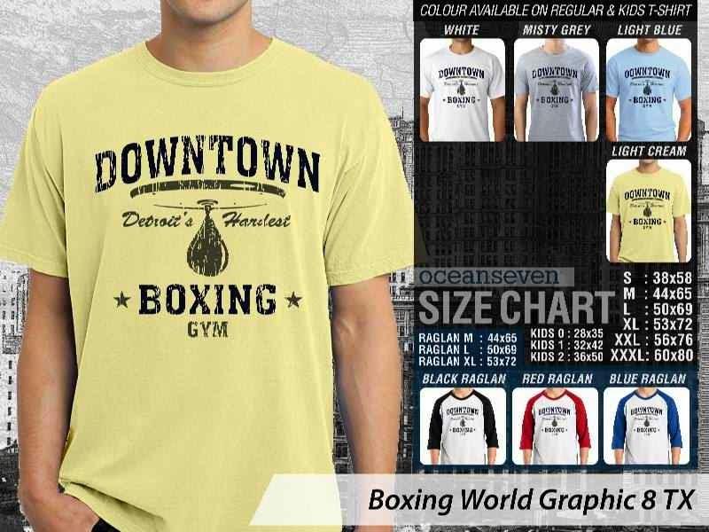 Kaos Olah Raga Sport Boxing World Graphic 8 distro ocean seven