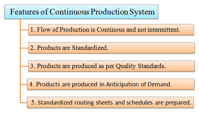 features of continuous production system