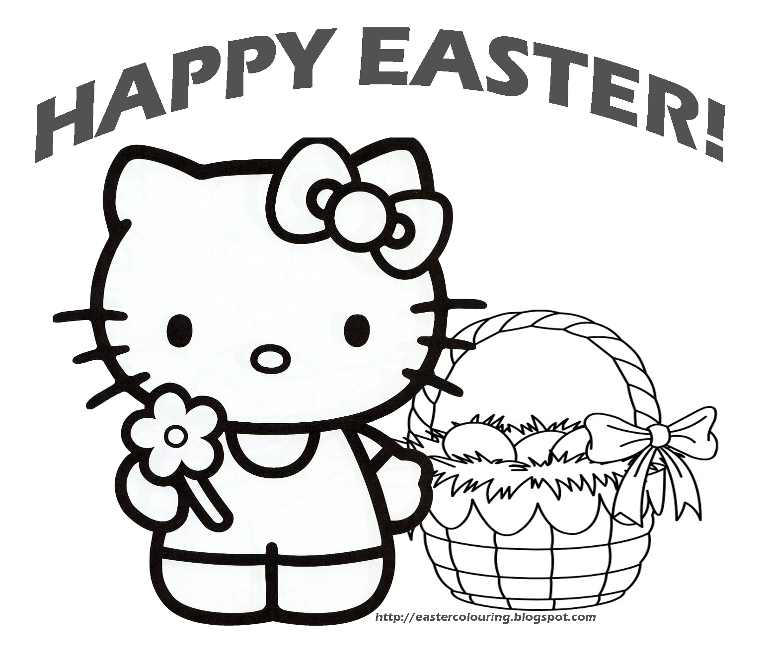 Easter Bunny Coloring Pages Free and Printable - coloring pages for easter