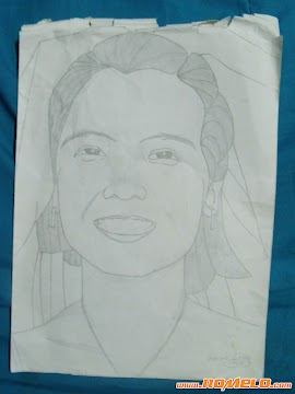 Pencil Sketch Of My Wife