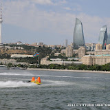 BAKU-AZERBAIJAN-July 6, 2013- Timed trials for the UIM F2 Grand Prix of Baku in front of the Baku Boulevard facing the Caspian Sea.Picture by Vittorio Ubertone