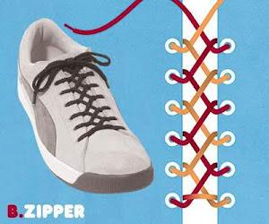 Memasang Tali Sepatu dengan Trik Zipper