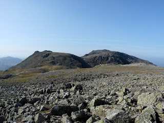 Ill Crag Broad Crag and Scafell Pike from Great End