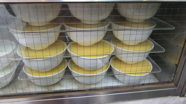 Racks of custard at Australia Dairy Company.