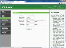 Konfigurasi parameter DHCP
