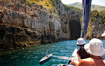 Exploring sea cave of pirate Haxhi Aliu
