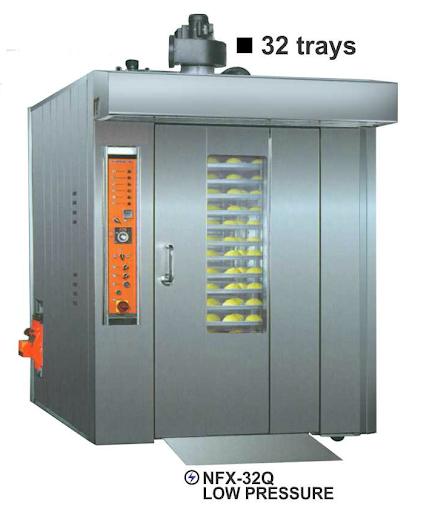 Alat Pemanggang Roti 32 Nampan (Gas Rotary Oven) : NFX-32Q