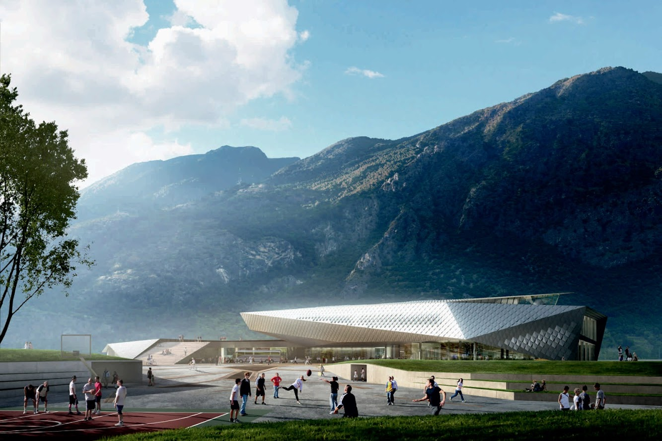 10059 Susa To, Italia: Susa International Train Station by Kengo Kuma