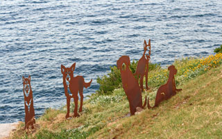 Dogs, Sculpture by the Sea