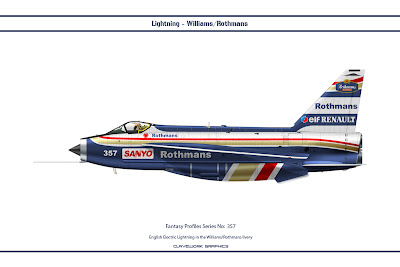 English Electric Lightning in the Williams Rothmans livery