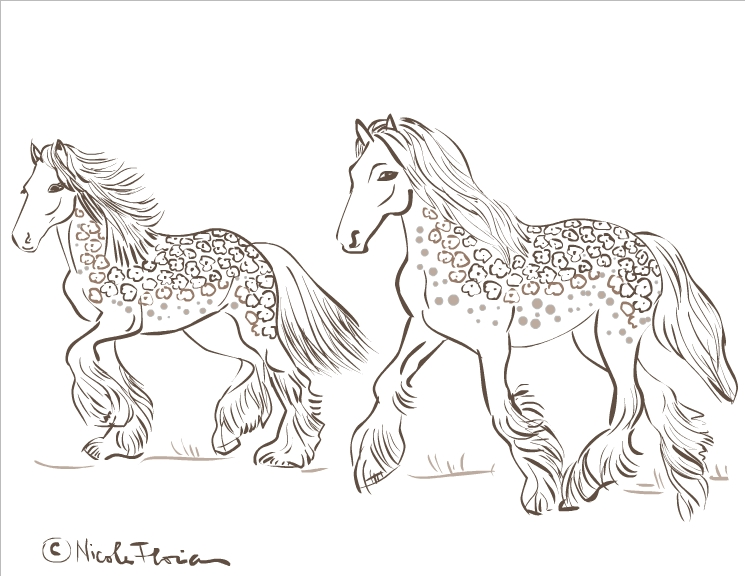 printable coloring pages of horses - Free printable coloring pages