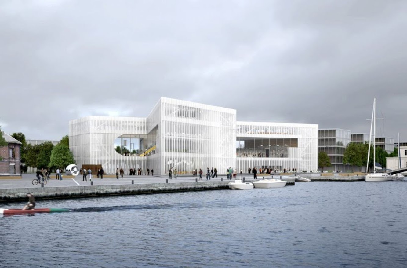 Oma begins the construction of the library in