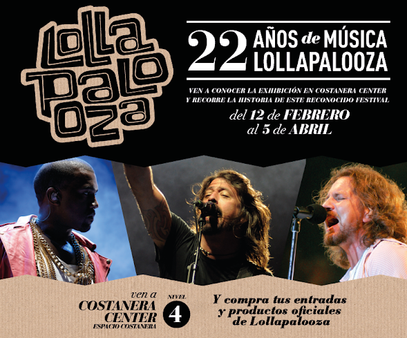 Lollapalooza Chile inaugura muestra en Costanera Center