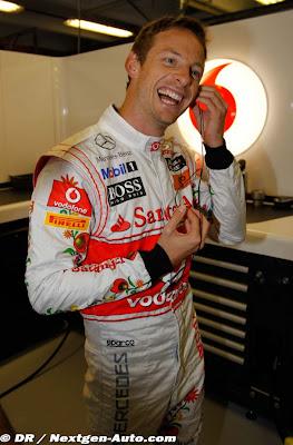 Джон Баттон на Гран-при Венгрии 2011 в субботу