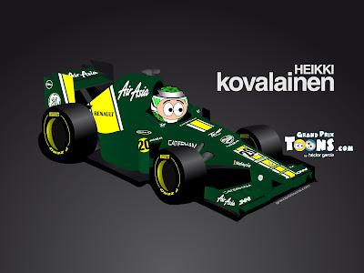 Хейкки Ковалайнен Caterham CT01 Grand Prix Toons 2012