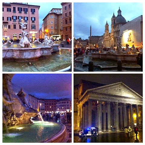 piazza navona, night, colors, buildings, history, historial, palace, monument, fountain, suihkulähde, matka, travel, nähtävyydet, rooma, rome, roma, italia, italy,
