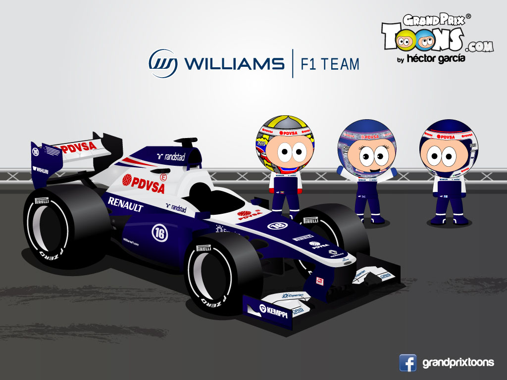 Пастор Мальдонадо Вальтери Боттас Сьюзи Вольф Williams FW35 Grand Prix Toons 2013