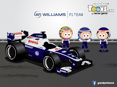 Пастор Мальдонадо Вальтери Боттас Сьюзи Вольф Williams FW35 Grand Prix Toons 2013