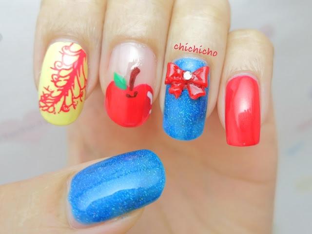 Disney Nail Art Snow White Chichicho