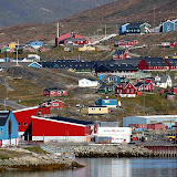 A Little Coastal Town in Greenland