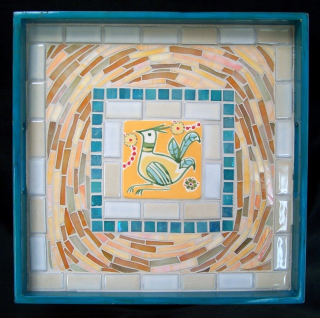 Bird Nest Mosaic Serving Tray