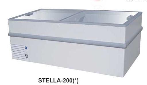 Mesin Pemajang Es Cream Kaca Datar (Sliding Flat Glass Freezer) Kapasitas 700 Liter : STELLA-200