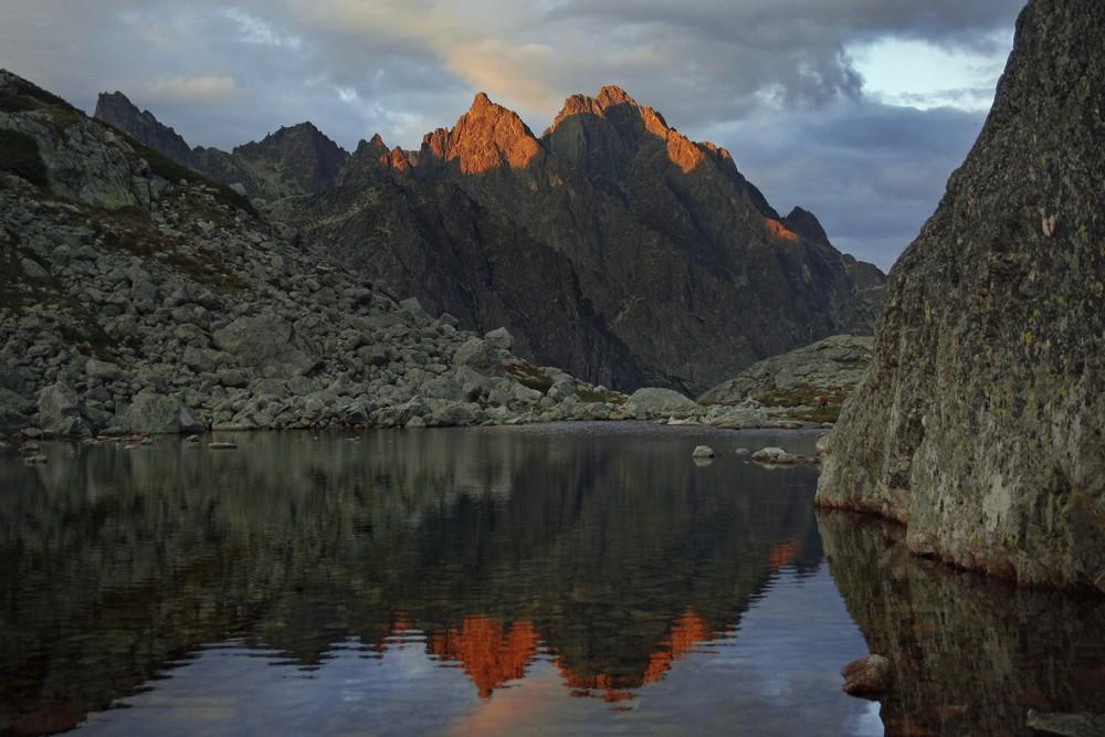 Dolina Staroleśna o zachodzie słońca
