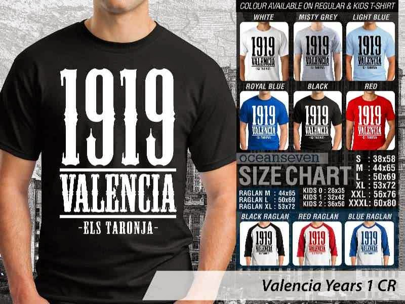 kaos bola bola Valencia 3 La Liga distro ocean seven
