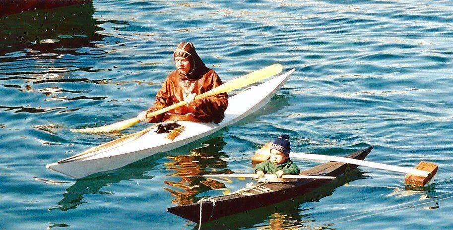 лодка для эскимоса