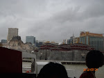 Arriving at Macau with a view of the Sands hotel and casino