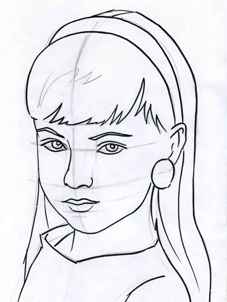 рисунки карандашом лицо скелета