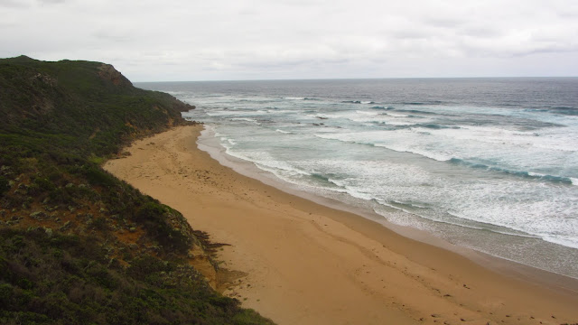 A desolate beach on Cape Otway.
