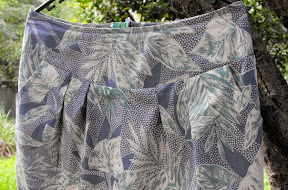 The Skirt with Leaves on it