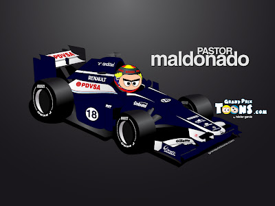 Пастор Мальдонадо Williams FW34 2012 Grand Prix Toons