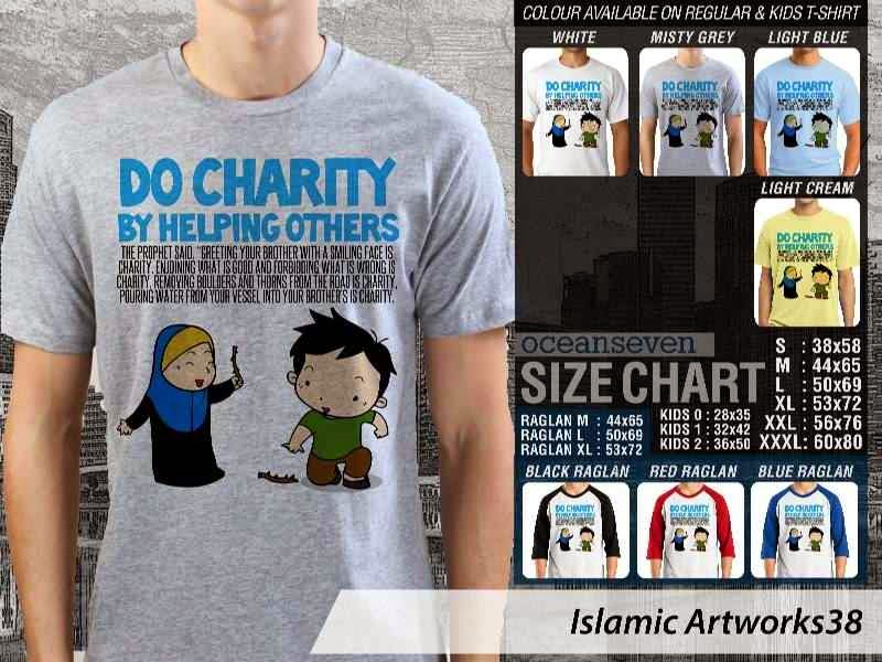 Kaos distro dakwah Muslim Do charity by helping others. Islamic Artworks 38 distro ocean seven