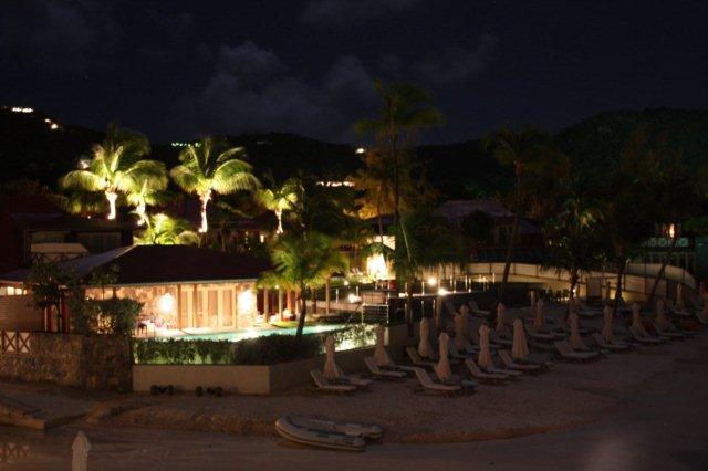 Eden Rock y playa de San Juan St Jean en San Bartolome St Barts de noche