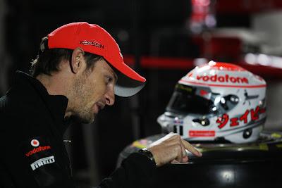 Дженсон Баттон во время интервью BBC на Сузуке в дни уикэнда Гран-при Японии 2011