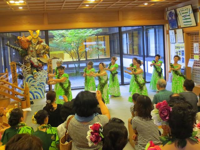 Why not? Some hula dancing at the Hakozaki shrine, during the Nagoshi-sai (summer passage rite)