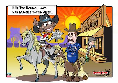 Льюис Хэмилтон превосходит рекорд Мэнселла - комикс SpeedyHedz по Гран-при США 2014