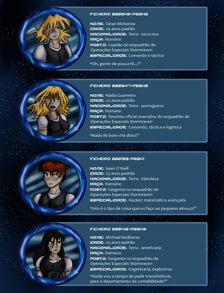 Protector da Fé - Ficha de Personagens 01