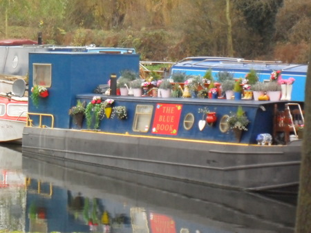 Colourful boat on the Lea