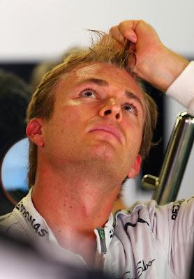 Нико Росберг вырывает волосы на Гран-при Испании 2014
