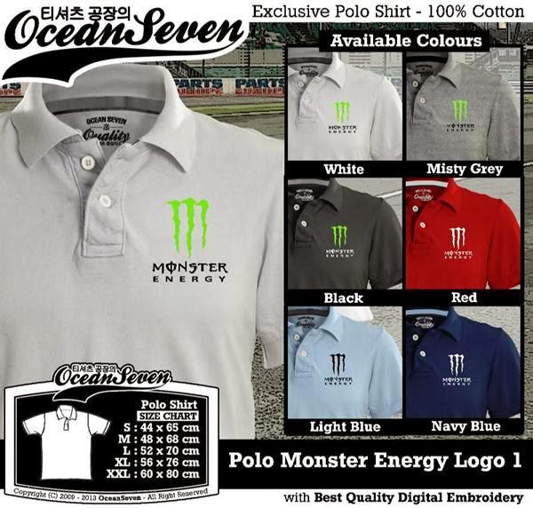 POLO Monster Energy Logo distro ocean seven