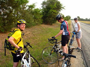 Out on a Weedon Loop ride with Philip, Simon, and Jean Marie.