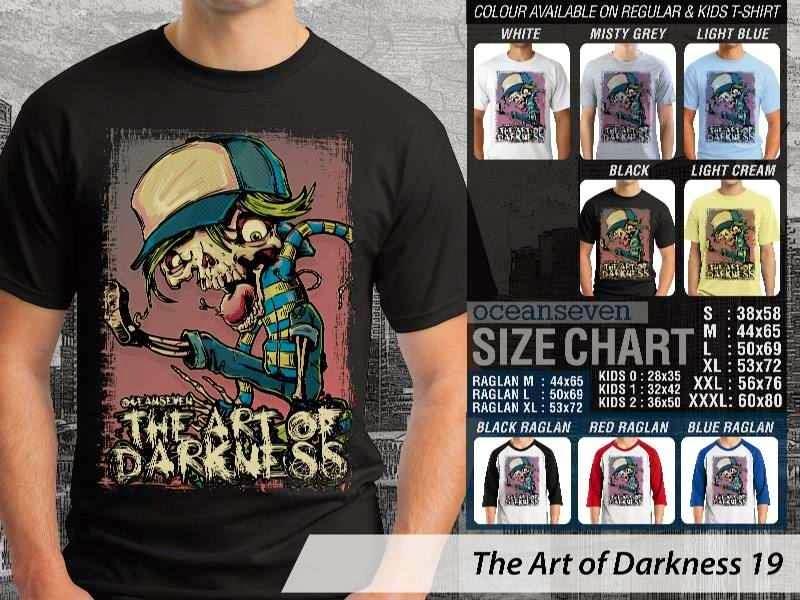 KAOS keren skull tengkorak The Art of Darkness 19 distro ocean seven