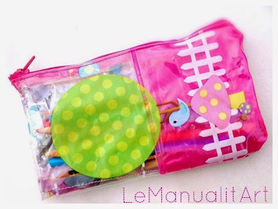 Reuse materials to sew: estuche para la vuelta al cole