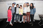 Dana Reason Evans, Committee Chair, Donna Cameron, President, 2013 NCAF Queen Jennifer Wayne, with the Avett Brothers