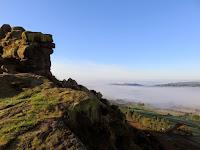 The Rocks On Hen Cloud Looking Towards Tittersworth