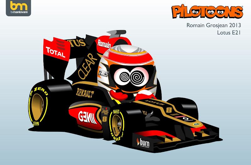 Ромэн Грожан Lotus R21 - pilotoons 2013