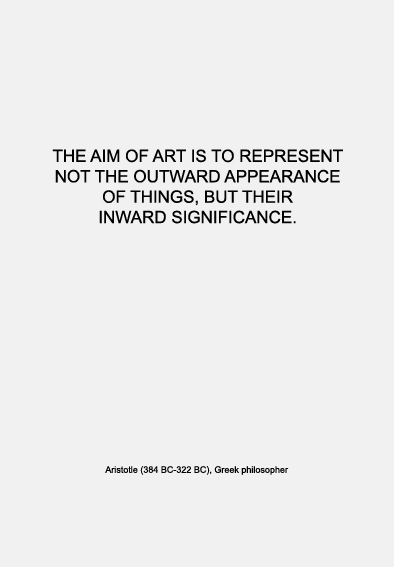 Quote | Aristotle on art, conceptual layers and inner value | Warmenhoven & Venderbos Blog